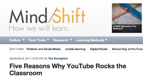 Five Reasons Why YouTube Rocks the Classroom | MindShift | Video for Learning | Scoop.it