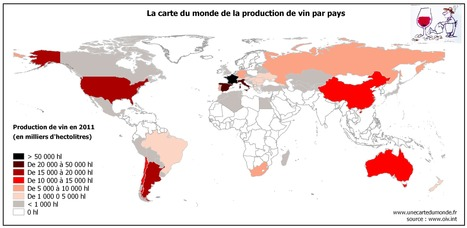 La carte du monde de la production de vin | Une carte du monde. | Autour du vin | Scoop.it