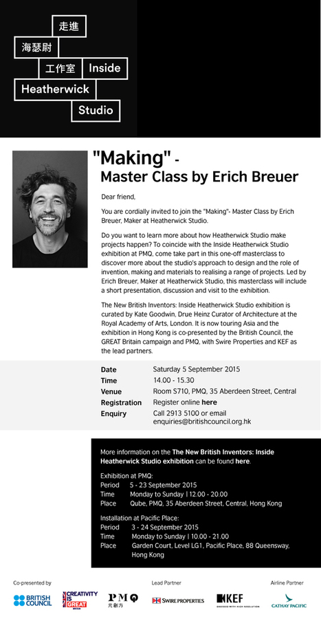 """""""Making"""" - Master Class by Erich Breuer, Saturday 5 September 2015 