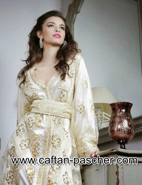 Caftan blanc haute couture | caftanboutique | Scoop.it