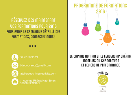 Programme de formations 2016 | Coaching & Creativity | Scoop.it