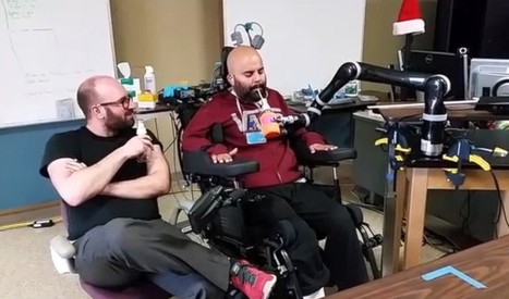 Paralyzed man sips beer using robot arm he controls with his mind | Gavagai | Scoop.it