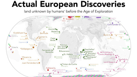 A Map of the Lands Actually Discovered by European Explorers   Networking the world - Espace et réseaux   Scoop.it