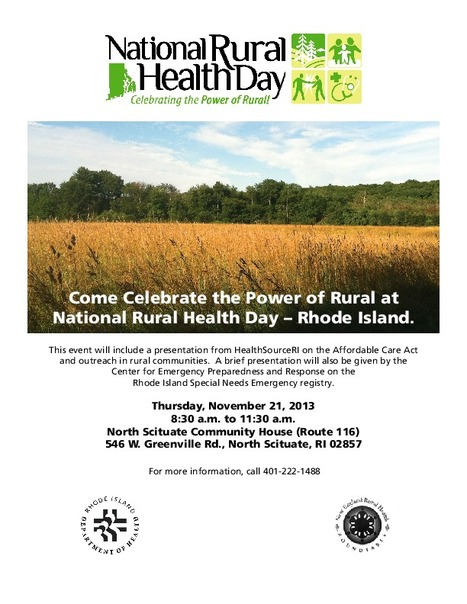 3rd National Rural Health Day | diet tips | Scoop.it