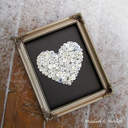 DIY Buttoned Heart | DI1 | Decorating Ideas | Scoop.it
