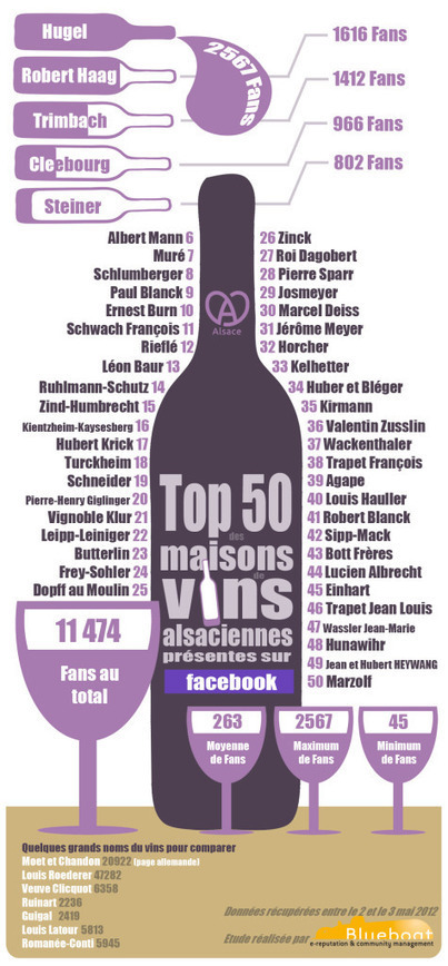 Infographies : les maisons de vin les plus populaires sur Facebook | Information visualization | Scoop.it