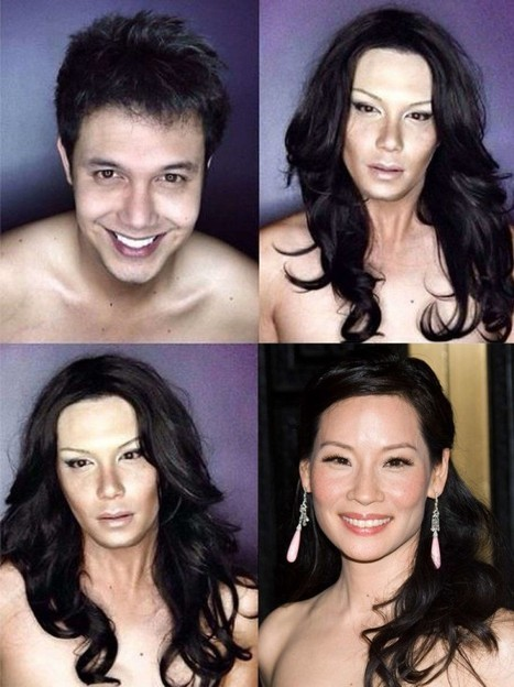 Male Actor Transforms Himself into Female Celebrities Using Makeup and Wigs | Strange days indeed... | Scoop.it
