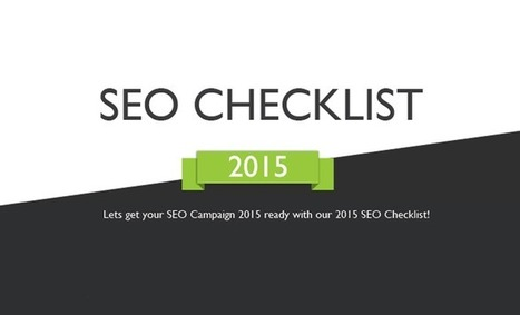 Search Engine Optimization Checklist: 2015 - #infographic #SEO | Marketing | Scoop.it