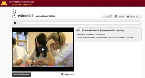 VideoANT: Online video annotation and commenting | Learning Bytes from The Consultants-E | Scoop.it