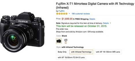 Fuji X-T1 Infrared available for PRE-ORDER at AmazonUS! | Fuji Rumors | Fuji X Series Cameras | Scoop.it