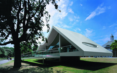 "Oscar NIEMEYER ""took the brief very seriously"" for 2003 Serpentine Gallery Pavilion 