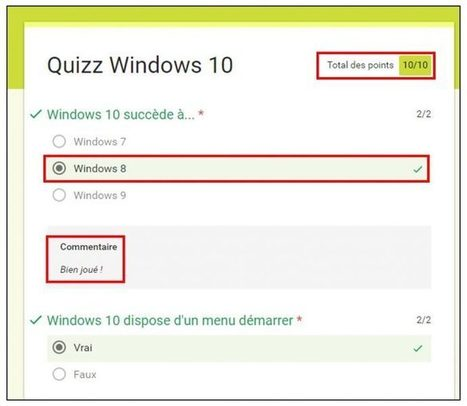 Créer des questionnaires autocorrigés avec les formulaires Google [Tuto] | info | Scoop.it