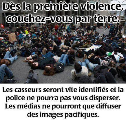 Evitez les casseurs:Dès la première violence couchez vous par terre #21A #12M15M | #marchedesbanlieues -> #occupynnocents | Scoop.it