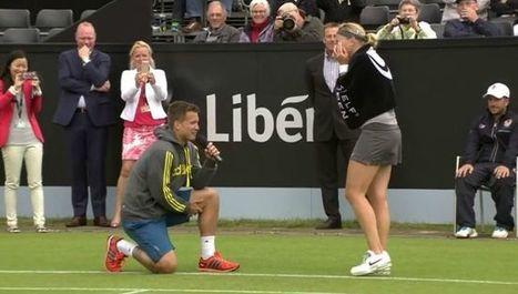 VIDEO Il fait sa demande en mariage sur un court de tennis | Tennis , actualites et buzz avec fasto-sport.com | Scoop.it