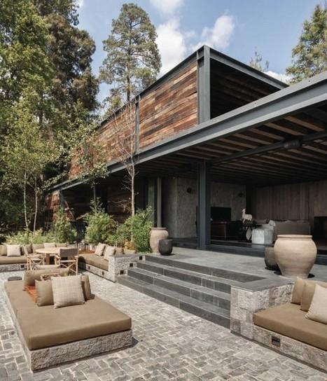 Chambre Bebe Bleu Canard Et Jaune :  maison contemporaine mexicaine dacier et de bois  Construire