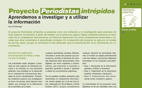"""""""Periodistas intrépidos"""" Propuesta didáctica para el desarrollo de la competencia informacional. Ciclo superior de Primaria   Educacion, ecologia y TIC   Scoop.it"""