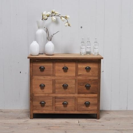 Teak Anrichte 9 Schubladen Möbel günstig kaufen bei Restyle24.de | Moebel im Landhausstil | Scoop.it