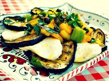 Grilled Eggplant, Fresh Mozzarella and Peppers with Capers | Le Marche and Food | Scoop.it