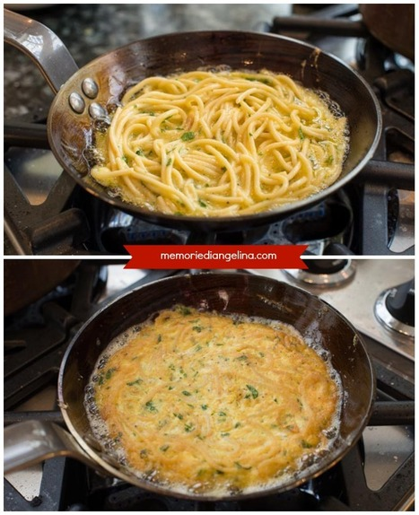 Frittata di maccheroni avanzati - Leftover pasta Omelette | Le Marche and Food | Scoop.it