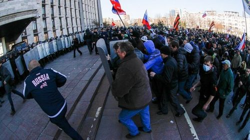 Pro-Russians Storm Ukraine Government Buildings