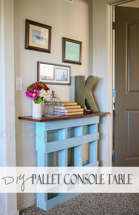 DIY Pallet Console Table - Kleinworth & Co | Recycle | Scoop.it