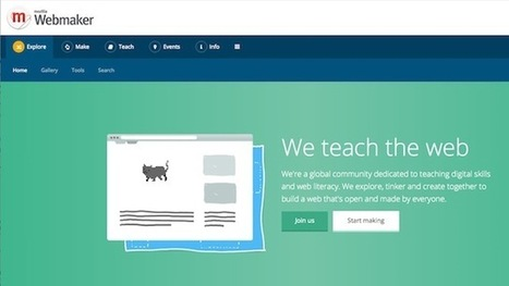 Mozilla Webmaker Teaches You to Build Web Sites, Apps, and More | ESCUELA 2.5 | Scoop.it