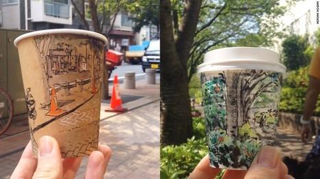 Artist Adrian Hogan creates beautiful Tokyo street scenes on coffee cups ! | Coffee News | Scoop.it