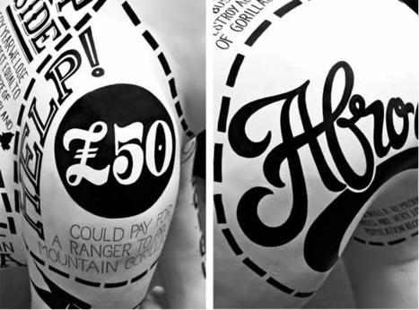 un Gorille typographique pour le 175ème anniversaire du Zoo de Bristol | freehand illustration and graphic design | Scoop.it