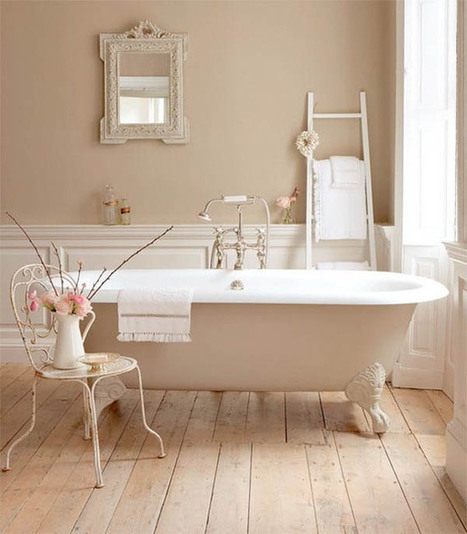 Stylish Bathroom Design with Beige Accent | 2012 Interior Design, Living Room Ideas, Home Design | Scoop.it
