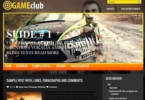 Game Club Blogger Theme | New Themes | Blogger themes | Scoop.it