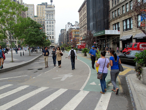 Watch New York's streets get dramatically better for walkers and cyclists | Urban economy | Scoop.it