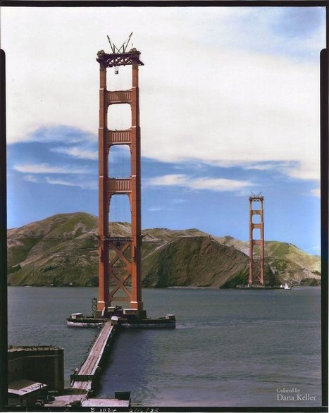Le Golden Gate en pleine construction, à San Francisco (1935) | The Blog's Revue by OlivierSC | Scoop.it