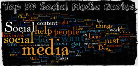 Top 50 Social Media Quotes From Power Users | The 21st Century | Scoop.it