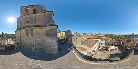 Vue sur la place des Créneaux de Saint-Emilion  -  France par Pascal Moulin - Panorama 360 x 180° au mât télescopique | moulin360panoramic | Scoop.it