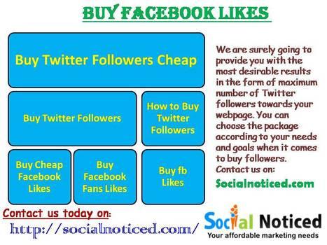 Buy Facebook Likes - Socialnoticed.com | Buying facebook likes | Scoop.it