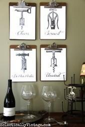 Fun FREE Wine Printables - Vintage Corkscrews | artes decorativas | Scoop.it