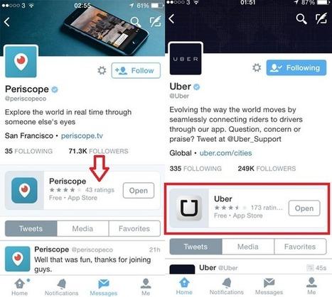 Twitter teste la possibilité d'épingler des applications sur le profil des marques - #Arobasenet.com | Référencement internet | Scoop.it
