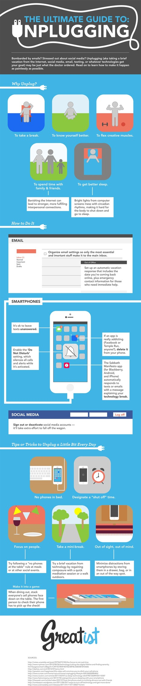 Infographic: How to unplug (temporarily) from the digital world | Personal Development | Scoop.it