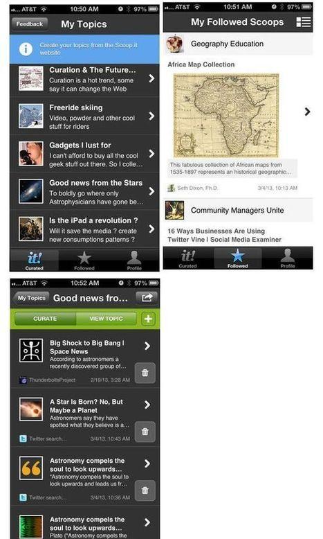 Des apps iPhone, iPad, Androïd utiles pour la veille, la curation | infobésité et curation | Scoop.it