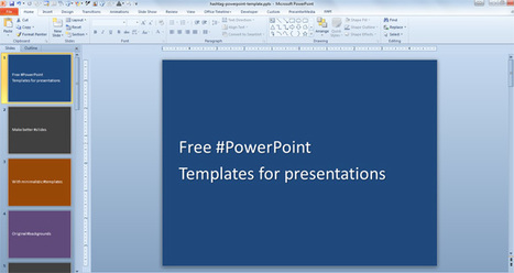 Free Hashtag PowerPoint Template with Solid Background | PowerPoint Presentation | Derivative and risk Managememt | Scoop.it
