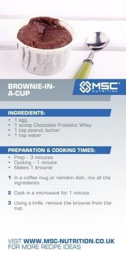 Brownie in a cup - MSC Nutrition | Healthy Easter Treats | Scoop.it