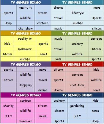 English Lesson Materials - Free Printable Bingo Templates | Brainfriendly, motivating stuff for ESL EFL learners | Scoop.it