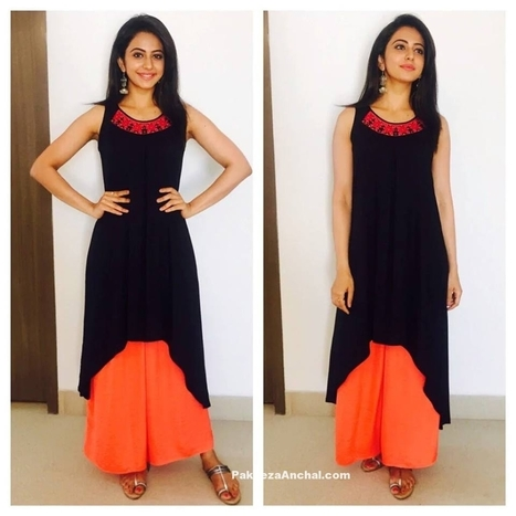 Rakul Preet Singh in High Low Asymmetrical Kurti and Palazzo Pants | Indian Fashion Updates | Scoop.it