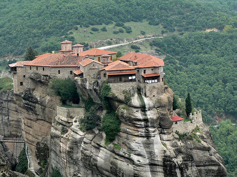 Rock and monastery, a photo from Trikala, Thessaly | TrekEarth | Xposed | Scoop.it