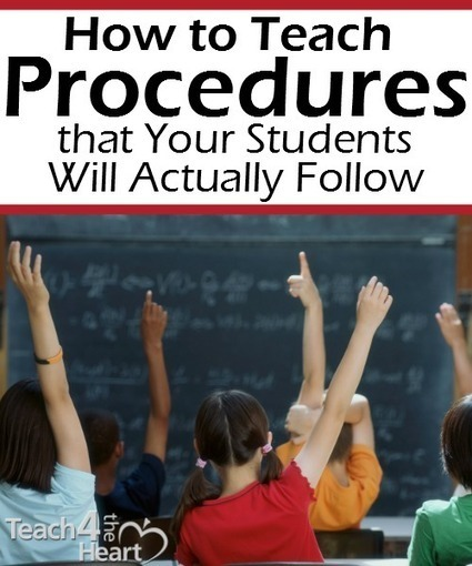 How to Teach Procedures that Your Students Will Actually Follow | DEEPER Literacy Focused Instruction | Scoop.it