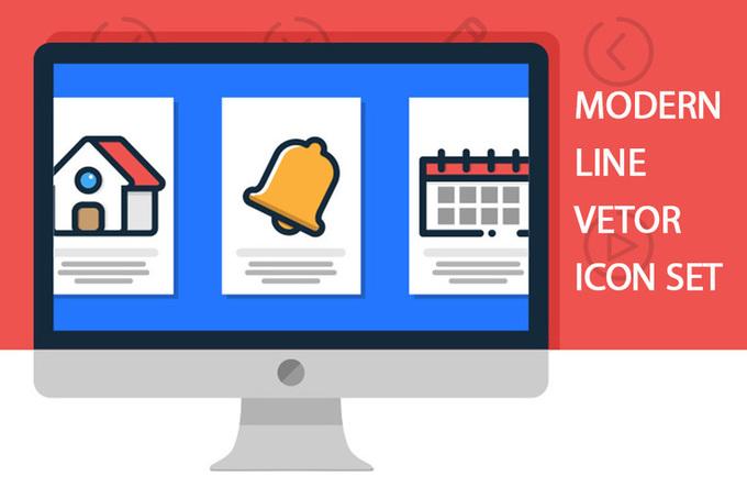 Modern Line Vector Icon Set - Free Design Resources