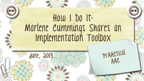 How I Do It: Marlene Cummings Shares an Implementation Toolbox | Communication and Autism | Scoop.it