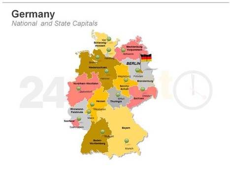 Germany Map: Editable PPT Template | PowerPoint Presentation Tools and Resources | Scoop.it