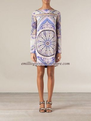 EMILIO PUCCI Pink Purple Printed Pattern Silk Dress [Pink Purple Printed dress] - $185.99 : Emilio pucci dress sale online outlet,60% off & free shipping! | fashion things | Scoop.it