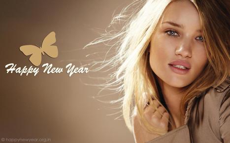 Happy New Year Wishing Wallpaper of Cute & Beautiful Girls   Happy New Year 2015 Wallpapers & Greetings in HD   HQ Desktop & PC   Scoop.it